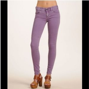 Free People Lilac Millennium Skinny Jeans SZ 27
